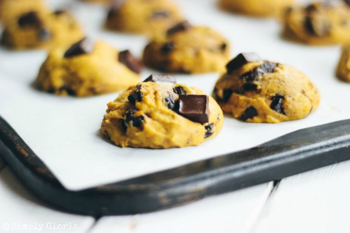Pumpkin Chocolate Chip Cookies by SimplyGloria.com #pumpkin iii