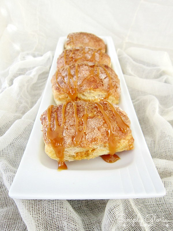 Caramel Pumpkin Empanadas made with puff pastry! Easy to make! by SimplyGloria.com