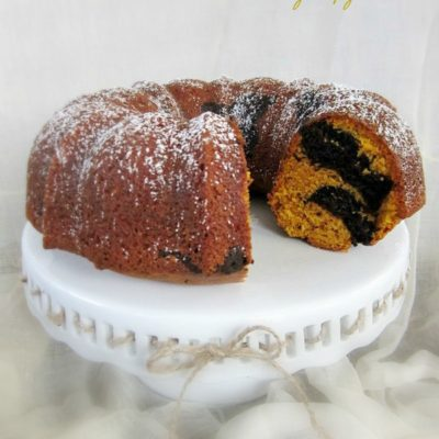 Chocolate Swirl Pumpkin Bundt Cake