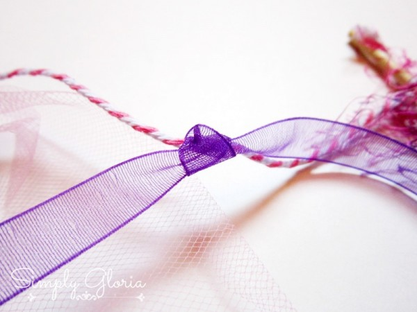 Ribbon Cake Banner Topper by SimplyGloria.com Easy Instructions! #banner