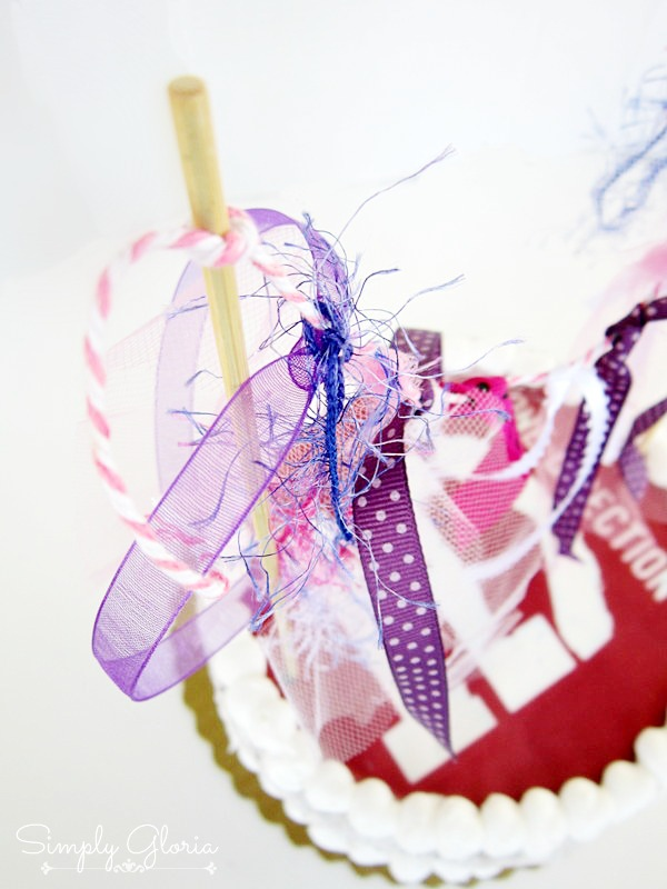 Ribbon Cake Banner Topper by SimplyGloria.com #banner #garland