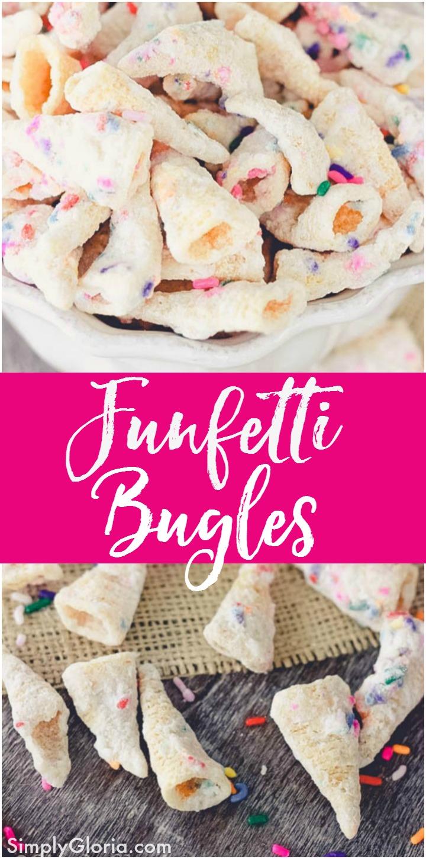 Super Easy To Make #Funfetti Bugles!