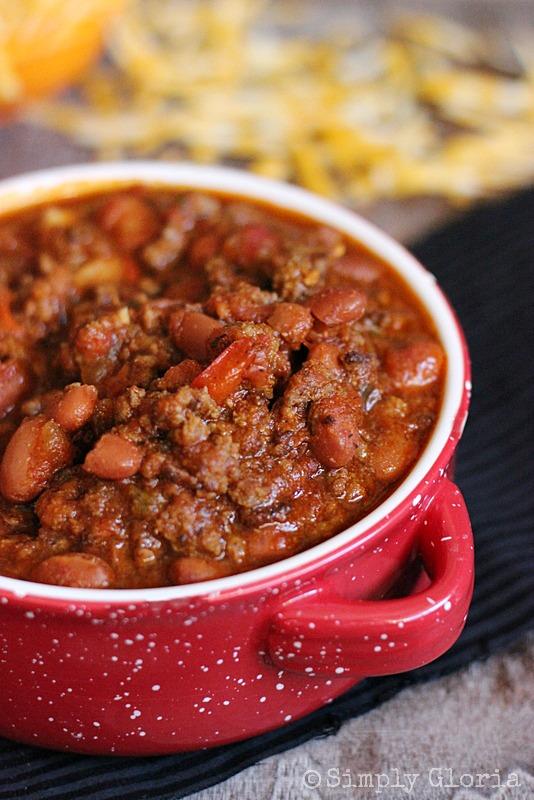 20 Minute Chili by SimplyGloria.com #chili