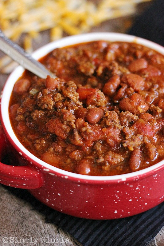 20 Minute Chili from SimplyGloria.com #chili