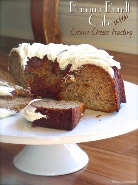 Banana Bundt Cake with Cream Cheese Frosting @TahnyCooks