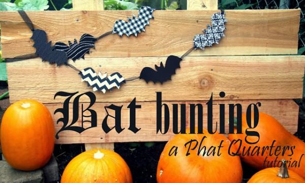 Bat Bunting tutorial Phat Quarters