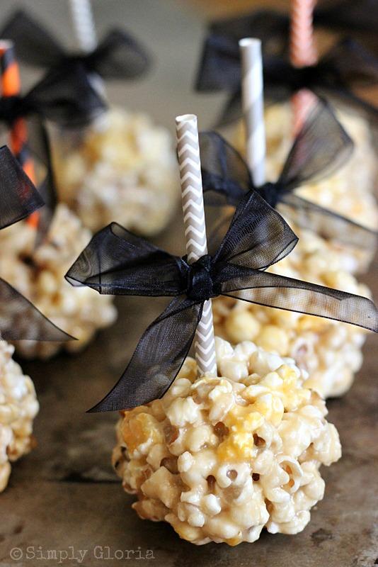 Caramel Marshmallow Popcorn Balls by SimplyGloria.com
