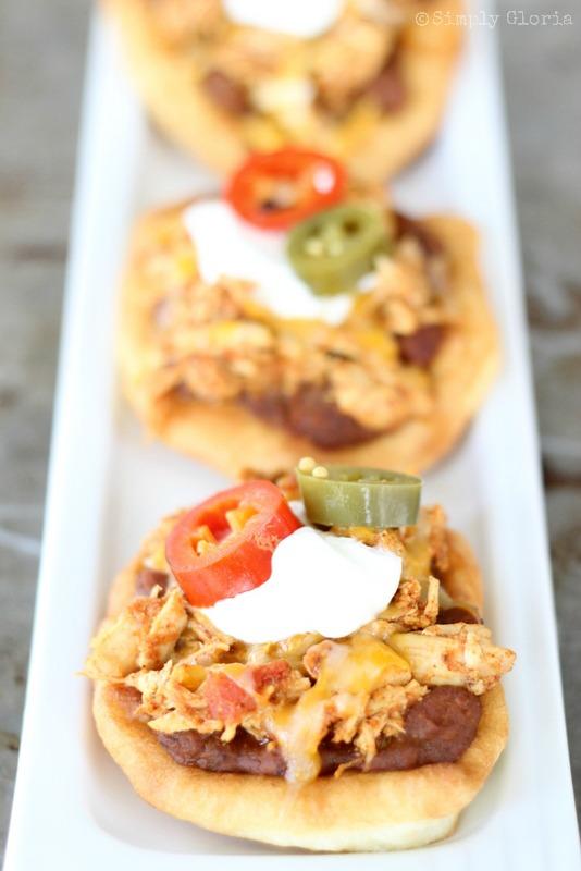 Chicken Fry Bread Tacos - SimplyGloria.com
