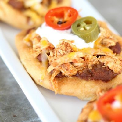 Chicken Fry Bread Tacos