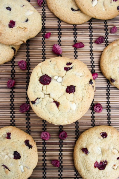 CRANBERRY ORANGE AND WHITE CHOCOLATE COOKIES