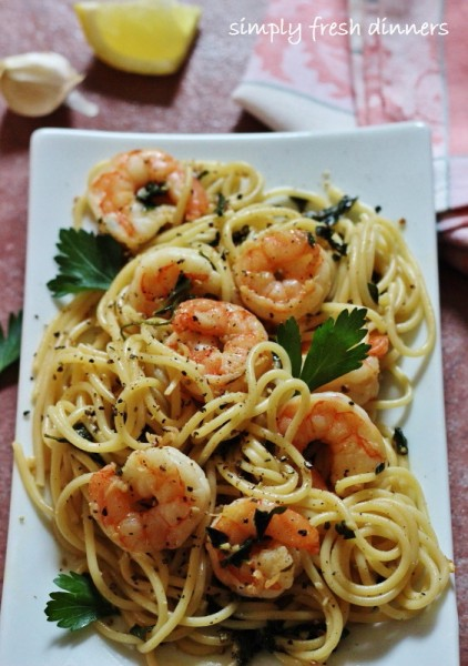 Quick, Low-Cal Shrimp Scampi