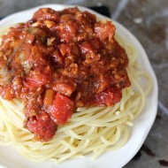 Roasted Garlic Spaghetti Sauce