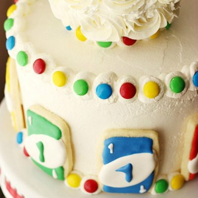 UNO Birthday Cake {With UNO Cookies}