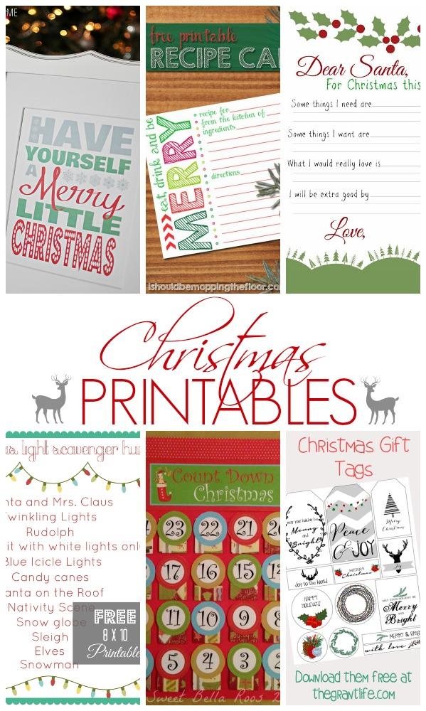 Christmas #Printables - Show Stopper Saturday SimplyGloria.com