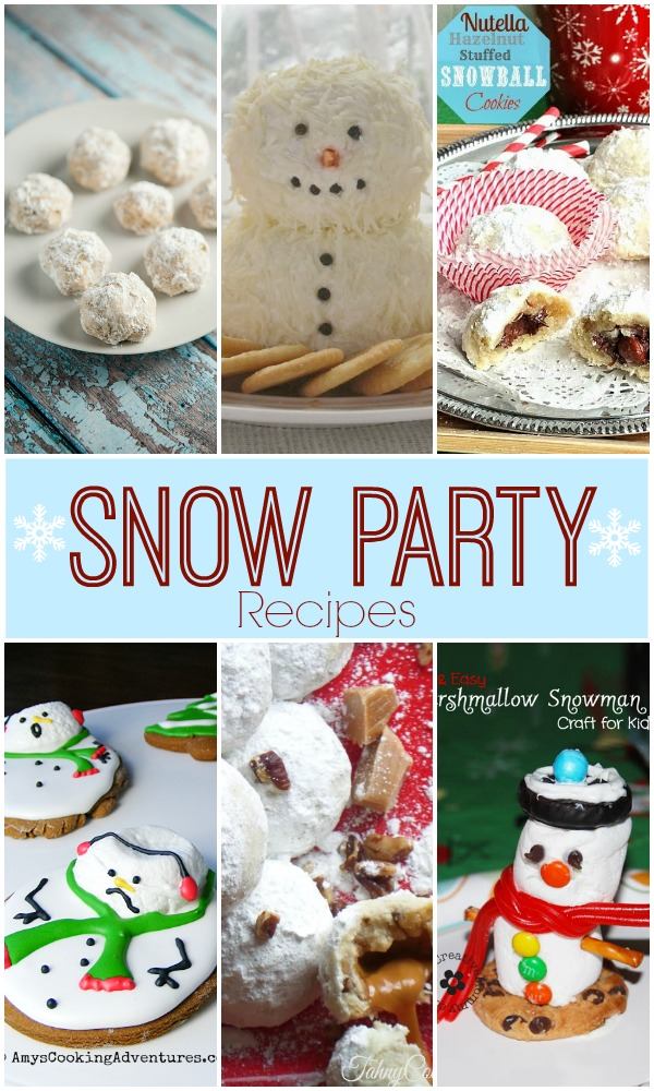 Featuring Fun Snow Party Recipes with SimplyGloria.com #snow #recipes