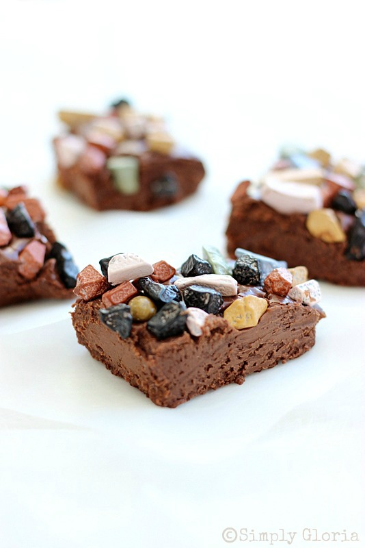 Fudge On The Rocks by SimplyGloria.com #Fudge #chocolate