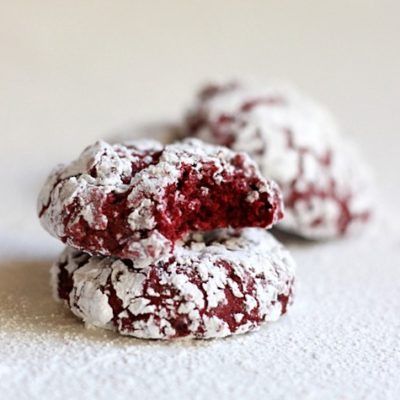 Red Velvet Crinkles Cookies