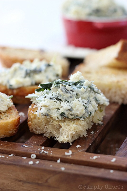 Spinach Artichoke Parmesan Dip - Easy to make and great to eat hot or cold! #dip