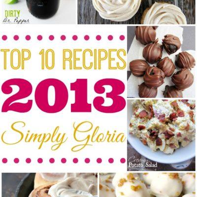Top Ten Recipes 2013