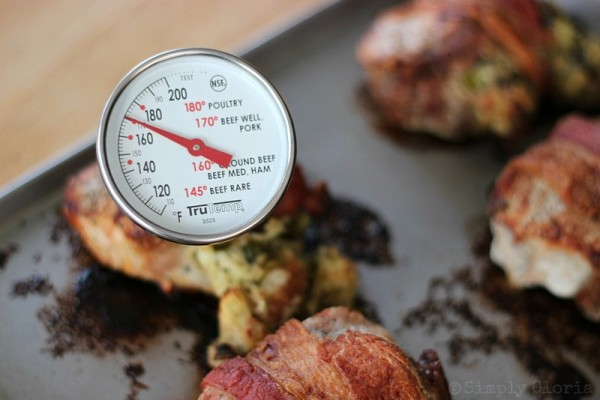 Bacon Wrapped Stuffed Pork Chops from SimplyGloria.com Ingredients13