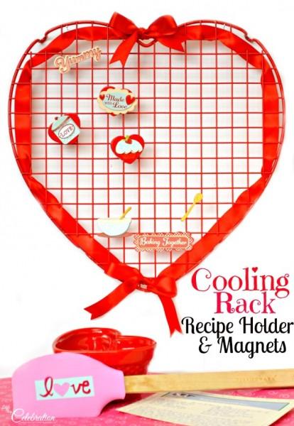 Cooling Rack Recipe Holder & Magnets