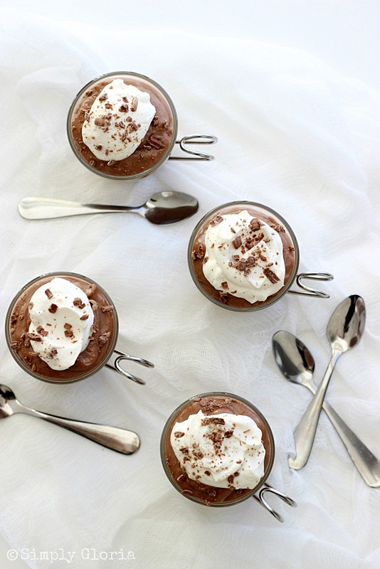 Homemade Hot Cocoa Chocolate Pudding from SimplyGloria.com #chocolate