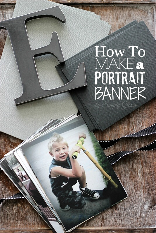 How To Make A Portrait #Banner with SimplyGloria.com