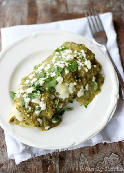 Chile Verde Enchiladas Simply Gloria