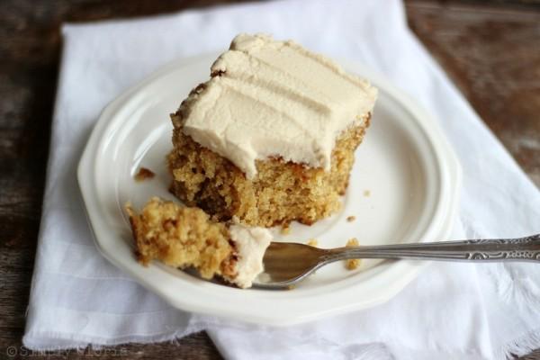 Lazy Daisy Peanut Butter Oatmeal Cake from SimplyGloria.com