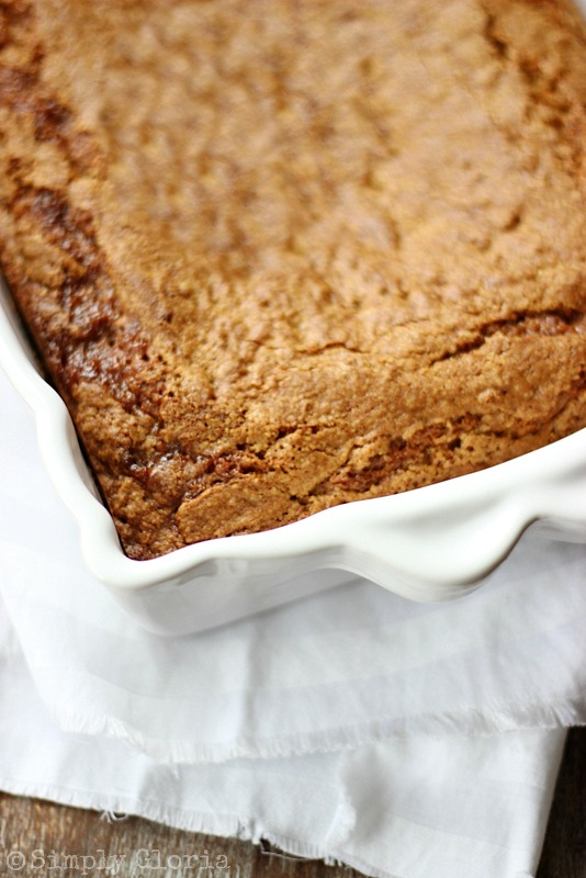 Lazy Daisy Peanut Butter Oatmeal Cake with SimplyGloria.com #cake