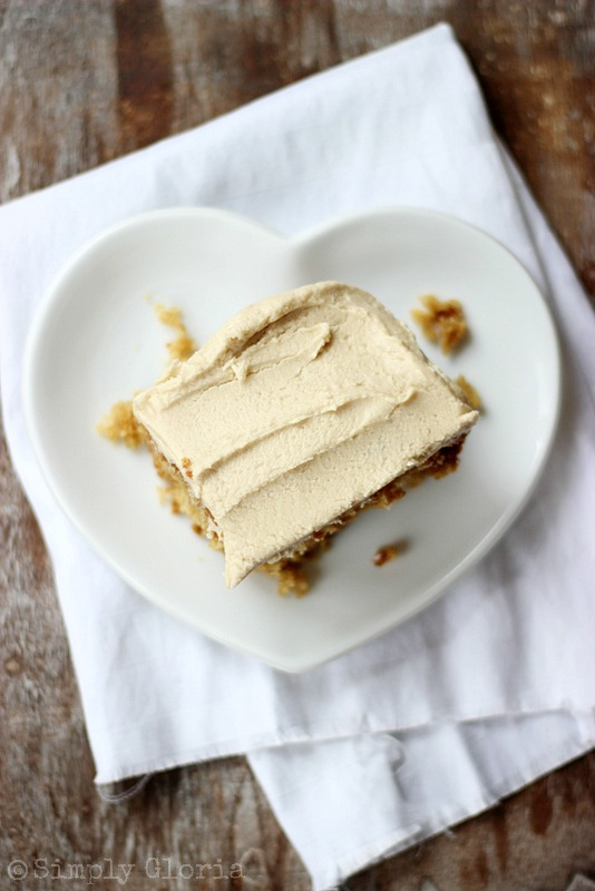 Lazy Daisy Peanut Butter Oatmeal Cake with SimplyGloria.com #peanutbutter