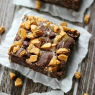 Salted Caramel Rockslide Brownies