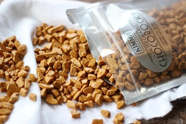 Salted Caramel Rockslide Brownies with ChocoRocks!  SimplyGloria.com