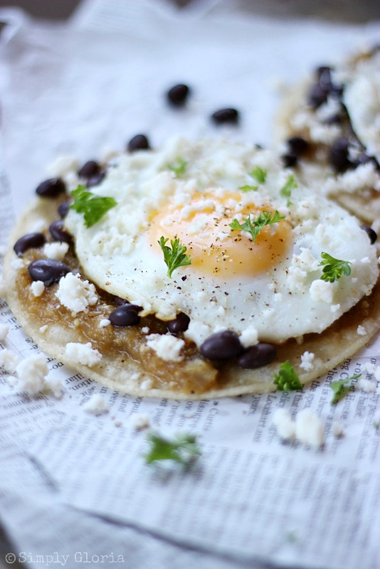 Huevos Rancheros with Tomatillo Sauce from SimplyGloria.com #breakfast