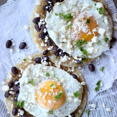 Huevos Rancheros With Fresh Tomatillo Sauce
