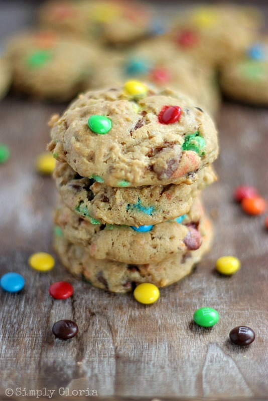 Applesauce Monster Cookies with SimplyGloria.com