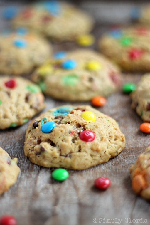 Applesauce Monster Cookies with SimplyGloria.com #candy