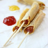 Baked Corn Tortillas Cheese Dogs