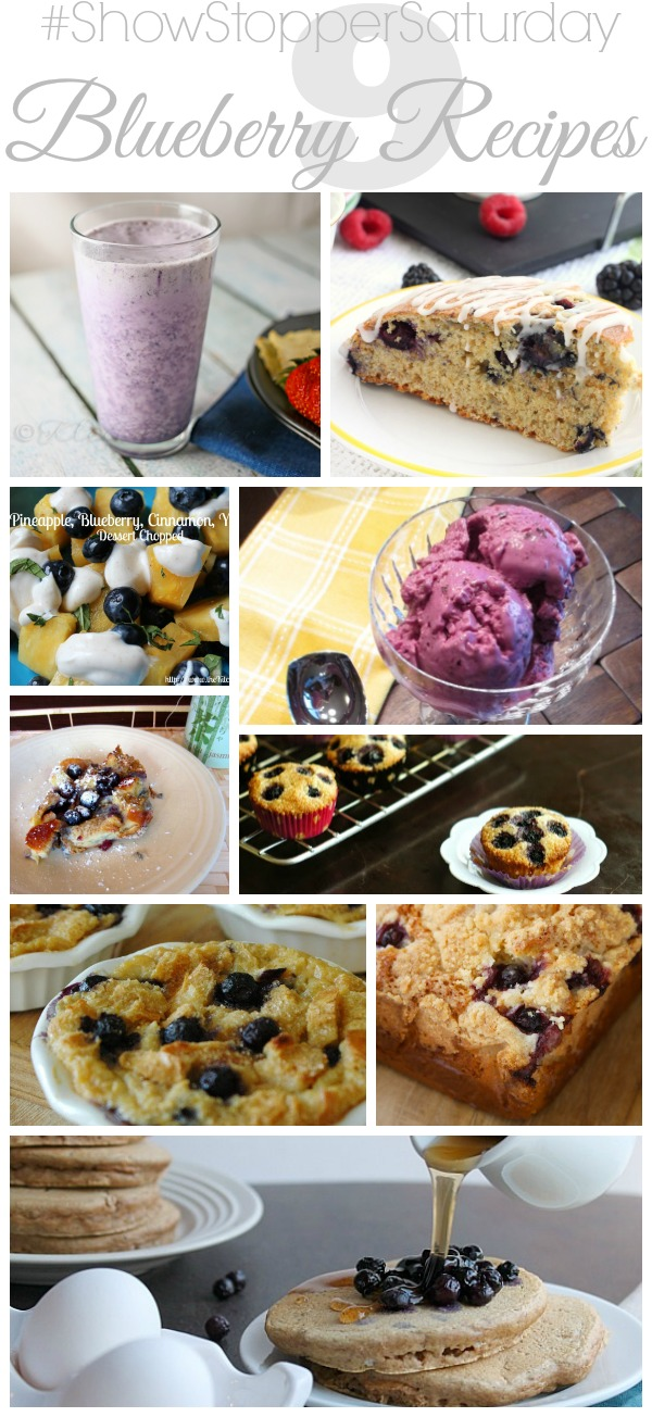 Blueberry Recipes with SimplyGloria.com #ShowStopperSaturday