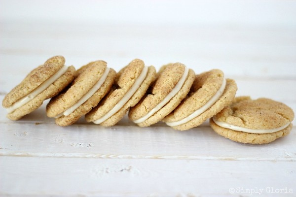 Chai Snickerdoodle Whoopie Pies with SimplyGloria.com #Chai
