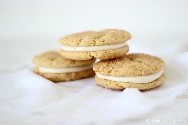 Chai Snickerdoodle Whoopie Pies with SimplyGloria.com #SandwichCookies