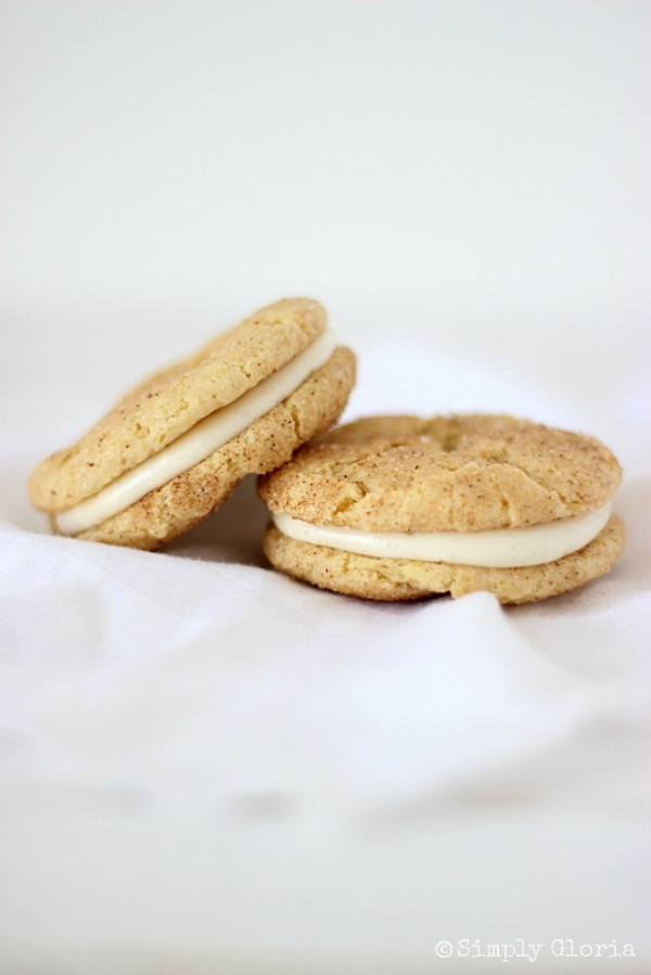 Chai Snickerdoodle Whoopie Pies with SimplyGloria.com #cookies
