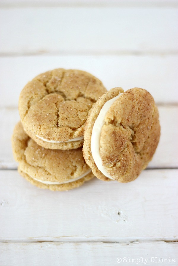 Chai Snickerdoodle Whoopie Pies with SimplyGloria.com #whoopiepies