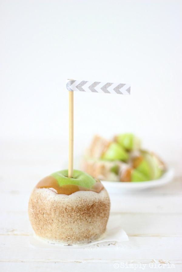 Chai Sugared Caramel Apples with SimplyGloria.com #apples #chai
