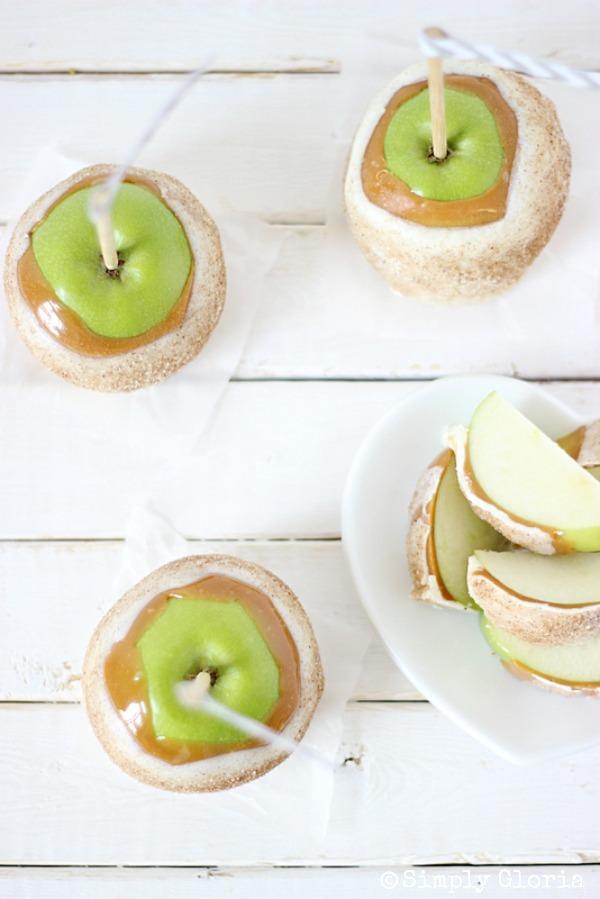 Chai Sugared Caramel Apples with SimplyGloria.com #chai #caramel