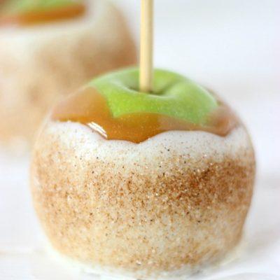 Chai Sugared Caramel Apples