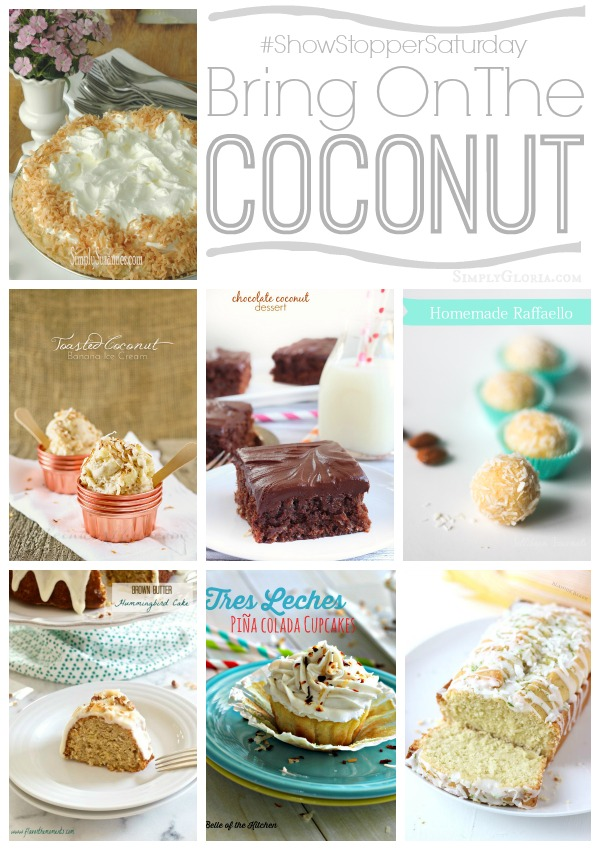 Coconut Features at the #ShowStopperSaturday #39 with SimplyGloria.com #coconut