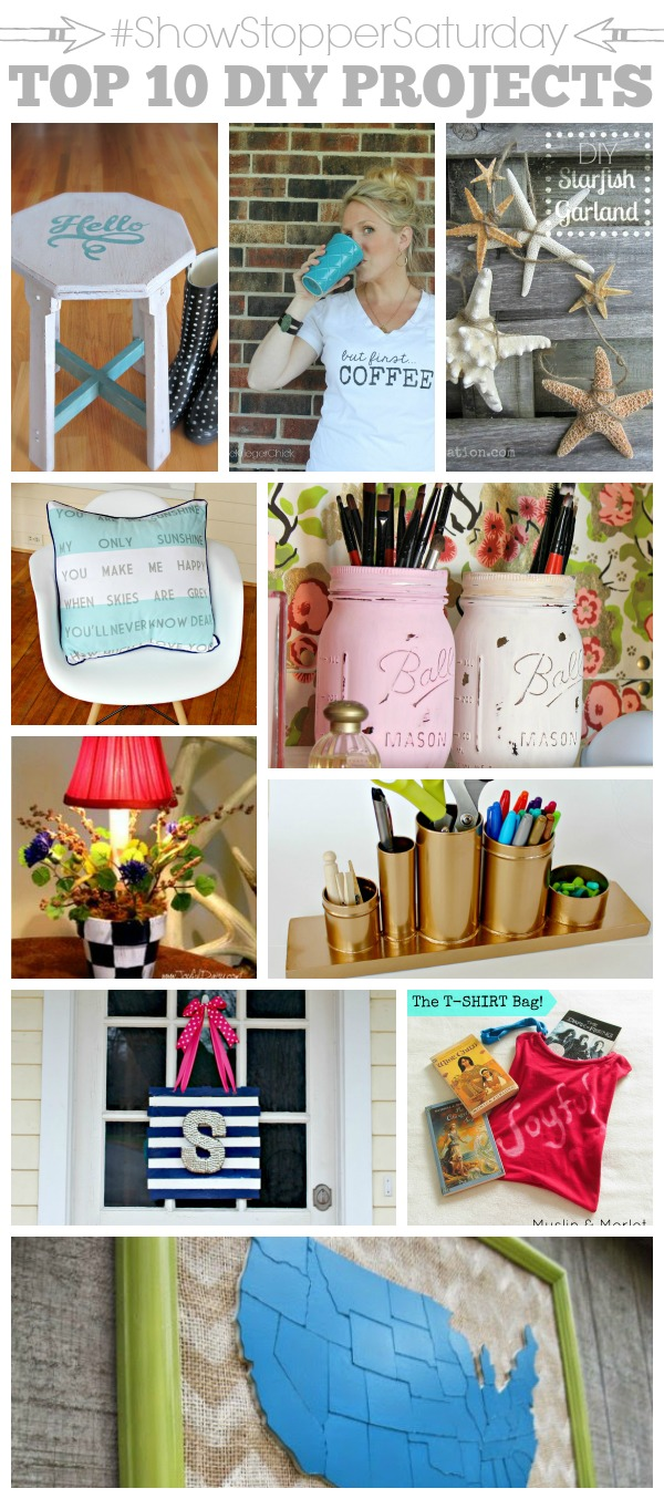 DIY Projects at the #ShowStopperSaturday with SimplyGloria.com
