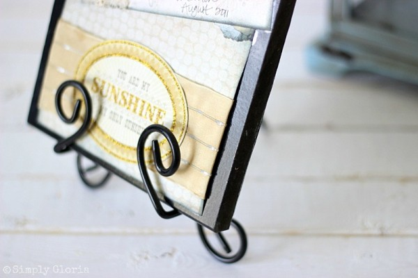 Easy to make Picture Frame Sign with SimplyGloria.com Adding textures with #ribbon!