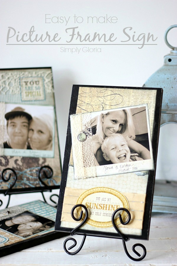 Easy to make Picture Frame Sign with SimplyGloria.com #frame #sign